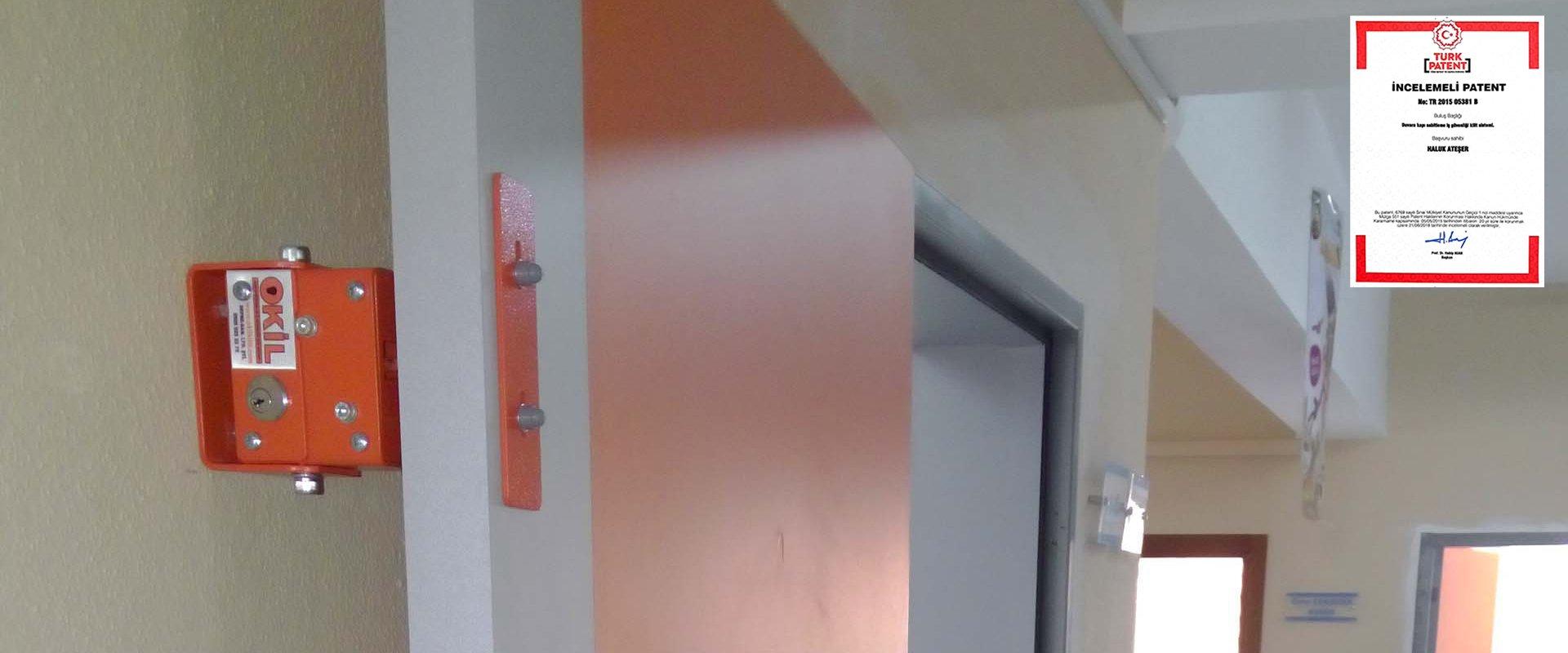 Oda güvenliği için kilitli kilit